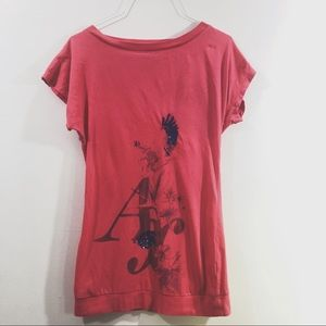 Armani Exchange- Eagle Red & Blue Graphic Tee